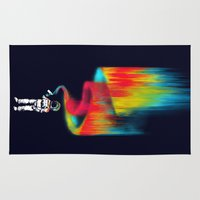 astronomy Area & Throw Rugs featuring Space vandal by Picomodi