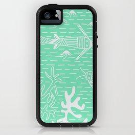 Carnival Glass Sea Life Stripes No. 2 iPhone Case