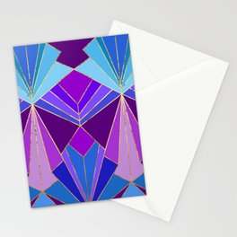 Peacock Art Deco - Large Scale Stationery Cards