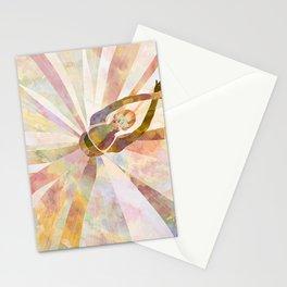 Sleeping Ballerina Floral - Gold Summer Palette Stationery Cards