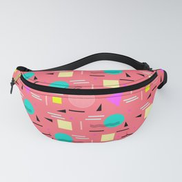 Memphis Forever - Coral Fanny Pack
