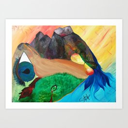 Gaia's Anatomy Art Print