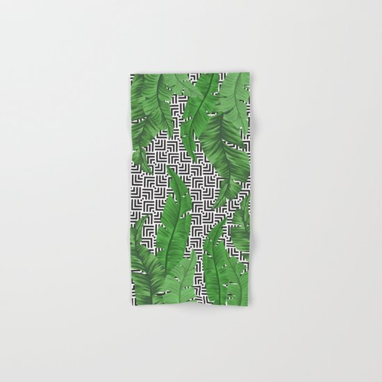 Tropical leaf pattern Hand & Bath Towel