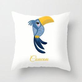 Coucou bird Throw Pillow