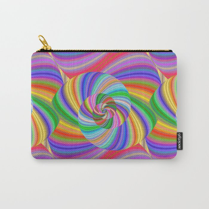 Color spiral pattern Carry-All Pouch