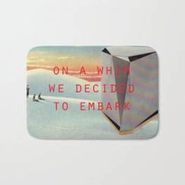 On a whim we decided to embark (Coburg Faceted Table and Sunset) Bath Mat