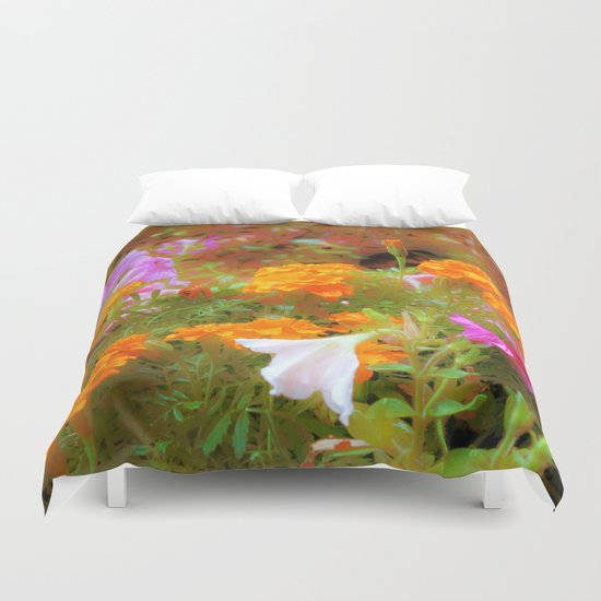 Every little garden seems to whisper a tune Duvet Cover