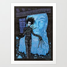 Edward Scissorhands Johnny Depp Art Print
