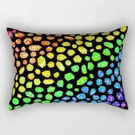 Gemstone Rainbow Rectangular Pillow