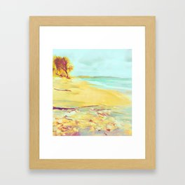 Mellow Beach Framed Art Print