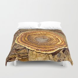 Bracket Fungi on the forest floor Duvet Cover