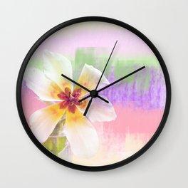Sun bathing tulip Wall Clock