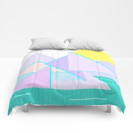 Hello Mountains - Lavender Hills Comforters
