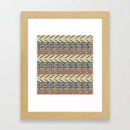 Bricks and sticks Framed Art Print
