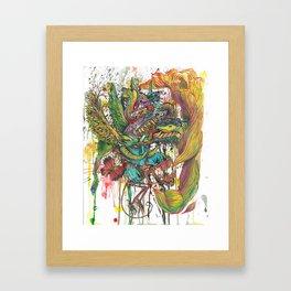 skeleton swimming Framed Art Print