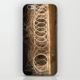 Wool spinning at the beach iPhone Skin
