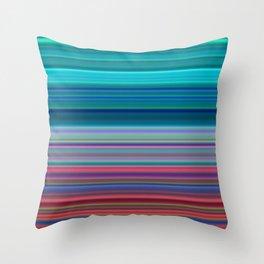 Blurry Saturn Stripes Throw Pillow
