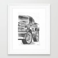 mustang Framed Art Prints featuring Mustang by WNN Creations