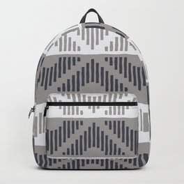 Rhombus (Gray and Blue Pattern) Backpack