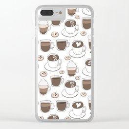 Coffee Cups Clear iPhone Case