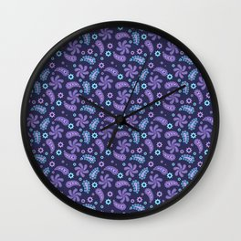Floral pattern paisley style Wall Clock