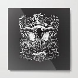 Chupa Cabra Metal Print