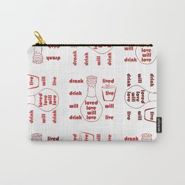 Love and Life Carry-All Pouch