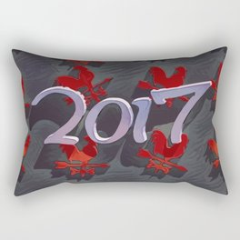 Chinese calendar for the year of rooster 2017 Rectangular Pillow