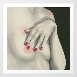 Red Nails & Nothing Else Art Print