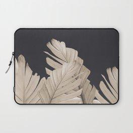 Sepia Banana Leaves Dream #3 #foliage #decor #art #society6 Laptop Sleeve