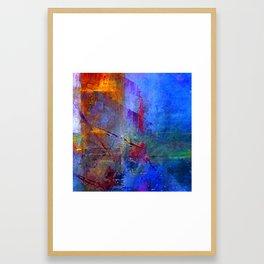 Intensity of Blue Digital Painting Framed Art Print