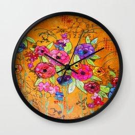 Flowers Flowers Flowers Wall Clock