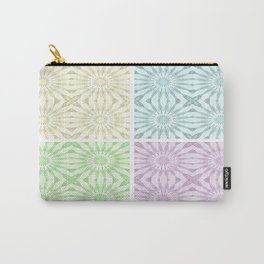 Pastel Pinwheel Flowers Panel Art Carry-All Pouch