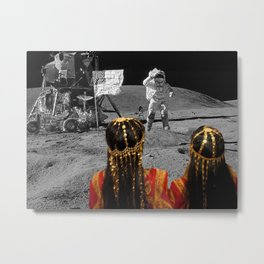 Rgaya and Sabeecha go to the moon Metal Print