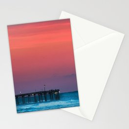 Sunset by the Avalon Pier Stationery Cards