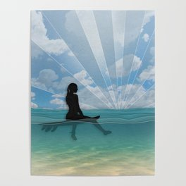 View from a Surfboard Poster