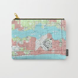 Biloxi Mississippi Map (1992) Carry-All Pouch
