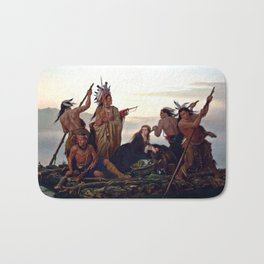 The Abduction of Boone's Daughter by the Indians Bath Mat