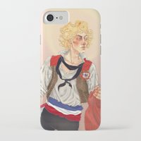 enjolras iPhone & iPod Cases featuring Enjolras by icarusdrunk