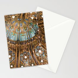 Galeries Lafayette Coupole Stained Glass Windows Stationery Cards