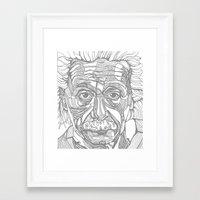 einstein Framed Art Prints featuring Einstein  by Jess Moore