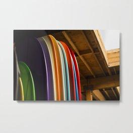 Surf Boards Metal Print