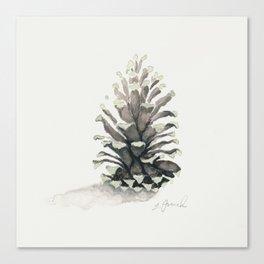 Pinecone Watercolor Canvas Print