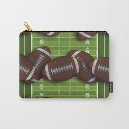 Football Field with Rows of Footballs Carry-All Pouch