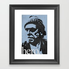 Charles Bukowski - hero. Framed Art Print