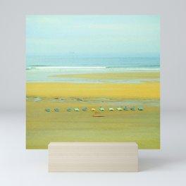 The beach of Salinas, Asturias,Spain Mini Art Print