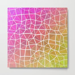 Pink, Orange, and Yellow Triangles 2 Metal Print