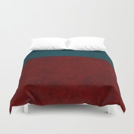Blue and orange suede Duvet Cover