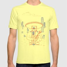 Mariachi in the Desert SMALL Mens Fitted Tee Lemon