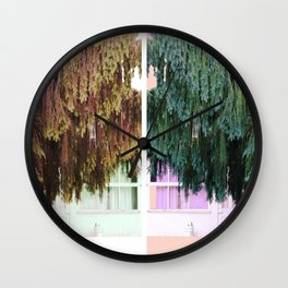 Willow Curtains Wall Clock
